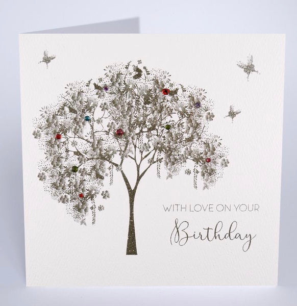 GS2 - Sparkly Tree With Love Birthday Card