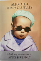 CH164A - Gangster Baby Birthday Card