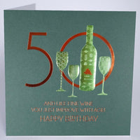 MN21 - 50th Improve with Age Birthday Card