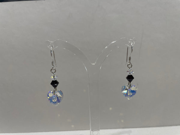 Swarovski Crystal Coloured Stone Drop Earrings - Various Colours