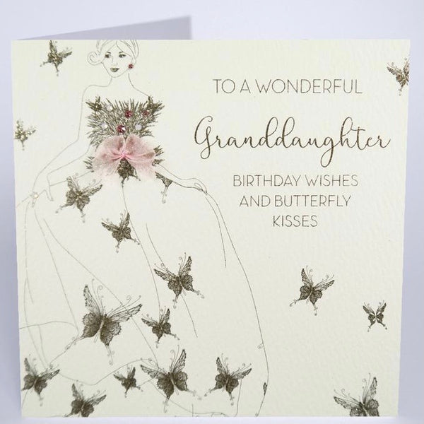 GS62 - Butterfly Wonderful Granddaughter Birthday Card