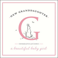 GH8141B - Rabbit New Baby Granddaughter Card