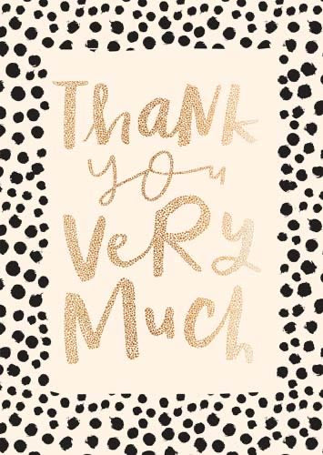 YJ174B - Thank You Very Much Card