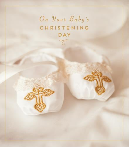 HD766B - Baby's Christening Day Booties Card