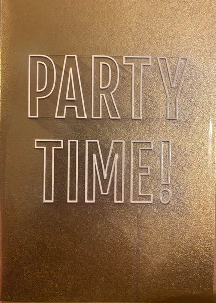 YU165A - Party Time Gold Birthday Card
