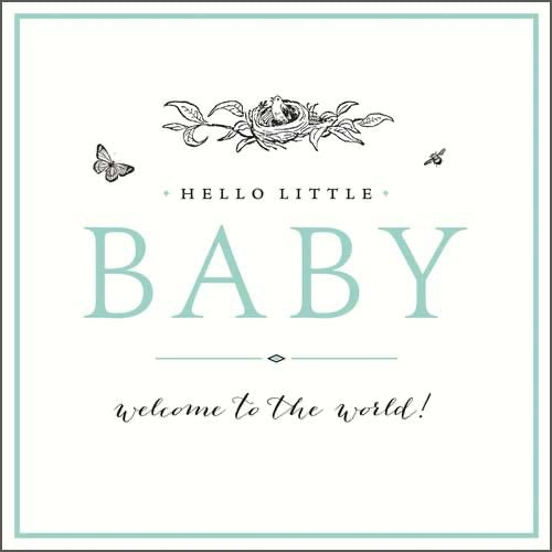 GH8209B - Welcome to the world Baby Card