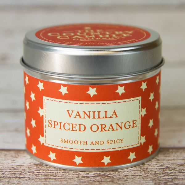 Vanilla Spiced Orange Tin Candle