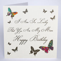 MB18 - I am so lucky that you are my Mum Birthday Card