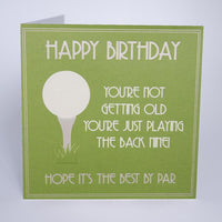 T27 - Playing the Back Nine Golf Birthday Card