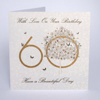 AG16 - 60th With Love Tree Birthday Card