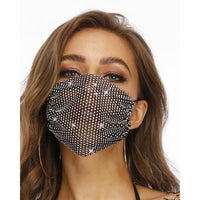 Sparkly Crystal Face Mask Cover - Multiple Colours
