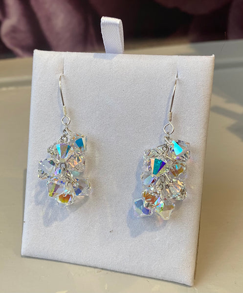 Xilion Swarovski Crystal Drop Earrings in AB