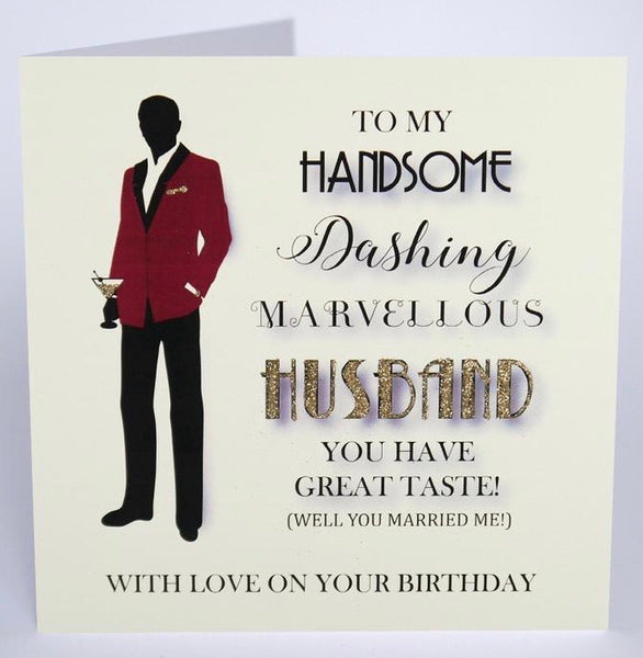 MRF19 - Handsome Husband Birthday Card