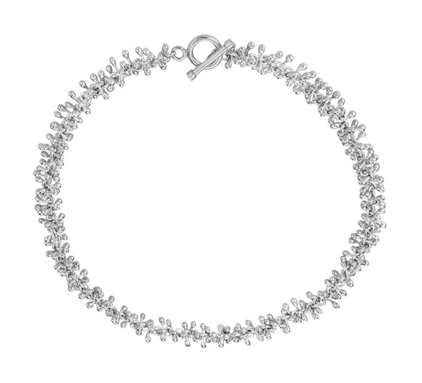 Clitheroe Cluster Necklace in Sterling Silver