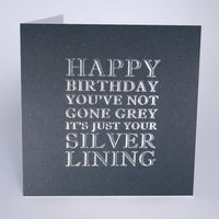 MN9 - Silver Lining Birthday Card