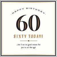 GH8138B - 60 Today Birthday Card