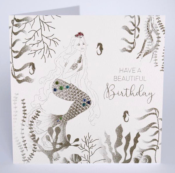 GS7 - Beautiful Mermaid Birthday Card