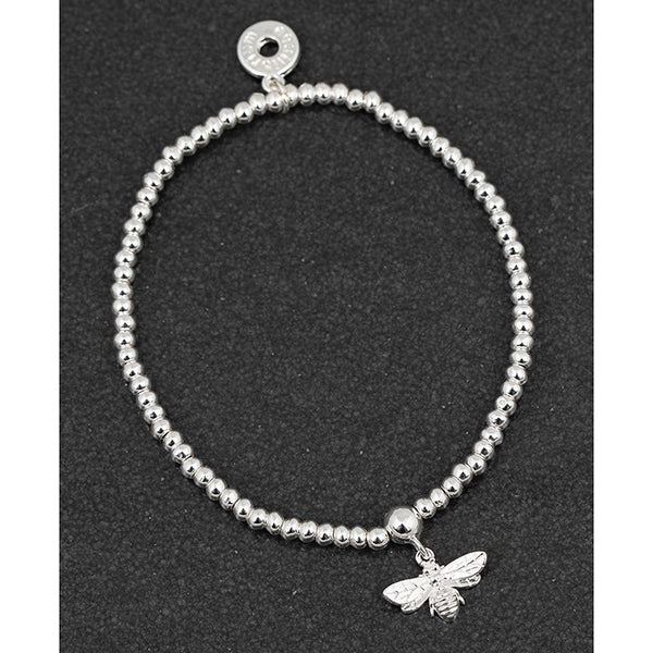 Briony Bee Silver Plated Stretchy Bracelet