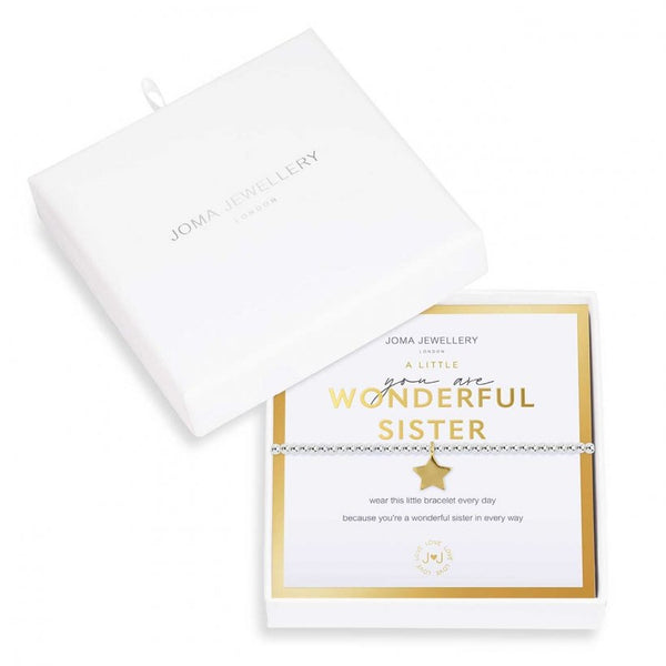Beautifully Boxed a littles - You are Wonderful Sister Bracelet