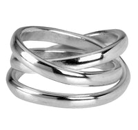 Chester Cross Over Ring in Sterling Silver