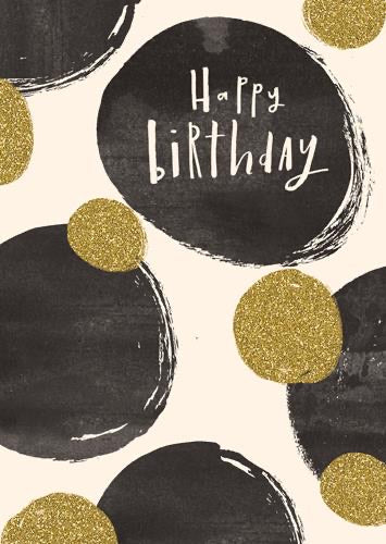 YJ168A - Sparkly Spots Happy Birthday Card