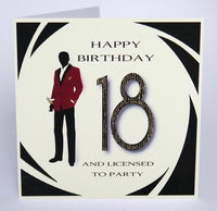 MRF1 - 18th Licensed to Party Birthday Card