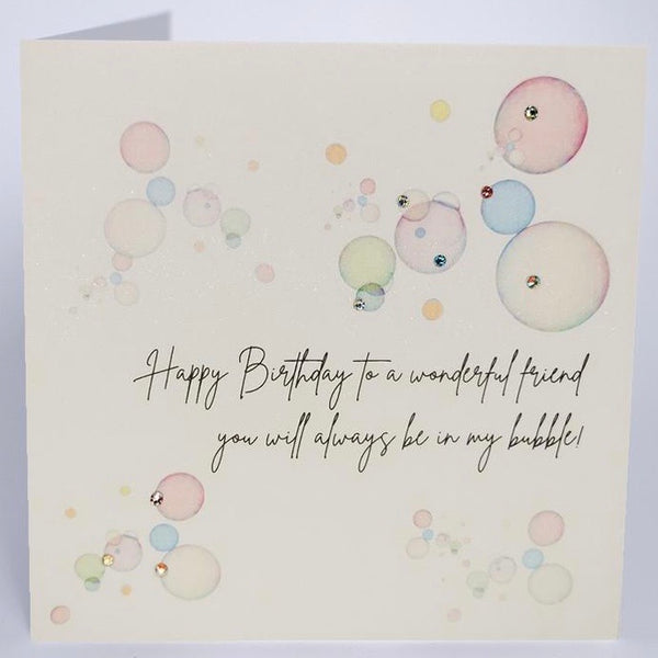 JZ10 - Bubble Wonderful Friend Birthday Card