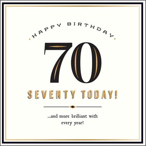 GH8139B - 70 Today Birthday Card