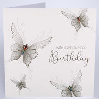GS4 - With Love Butterfly Birthday Card