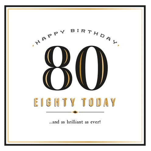 GH8154B - 80 Today Birthday Card