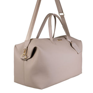 Weekend Holdall Duffle Bag in Taupe