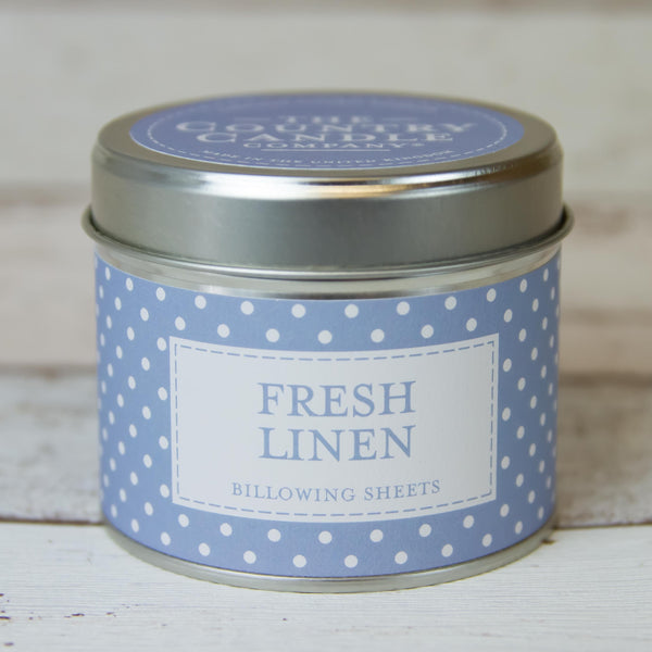 Fresh Linen Tin Candle