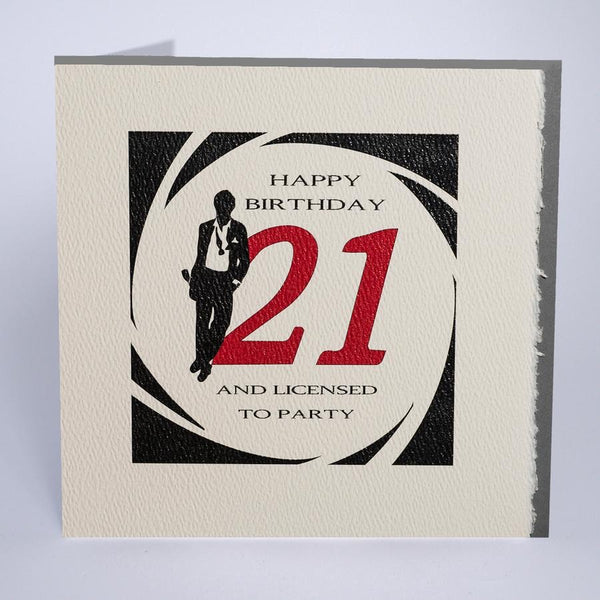 D2 - 21st Licensed to Party Birthday Card