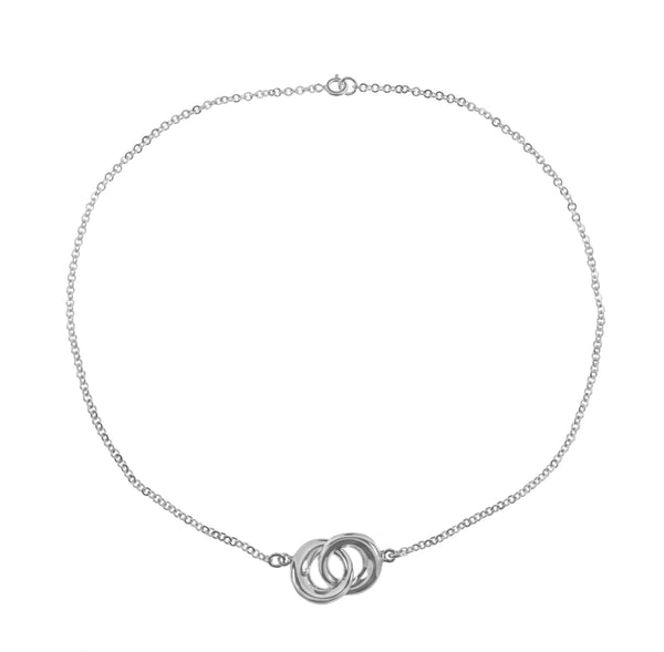 Indiana Infinity Rings Necklace in Sterling Silver