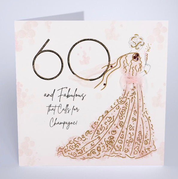 BG25 - 60th Fabulous Birthday Card