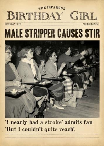 DV114A - Male Stripper Birthday Card
