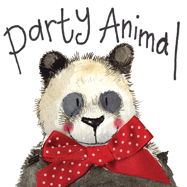 LS40 - Party Animal Panda Birthday Card