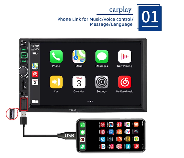 carplay stereo by lasbuy