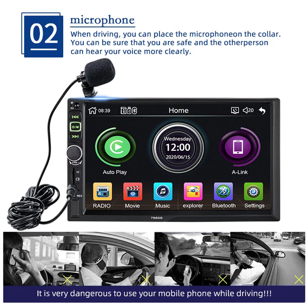 carplay stereo and mic | lasbuy
