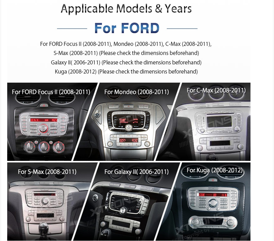 Ford focus modeo android stereo