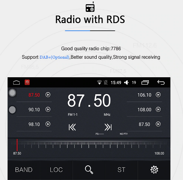 Holden Cruz Radio with RDS by Lasbuy