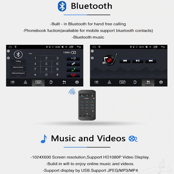 Volkswagen Bluetooth by Lasbuy