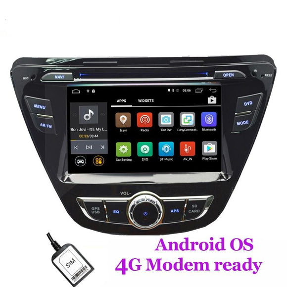Android  stereo for Hyundai Elantra Avante with WIFI, GPS car radio stereo
