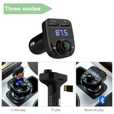 Wireless Car FM Transmitter Bluetooth MP3 Player Hands Free Call - LASBUY