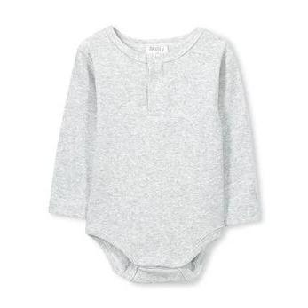 Basic Rib Bubbysuit - Grey Marle