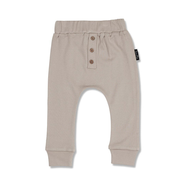 Taupe Button Slouch Pant