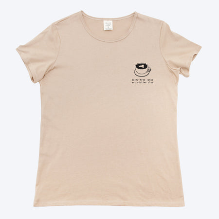 Womens Sad Latte Art Organic T-Shirt