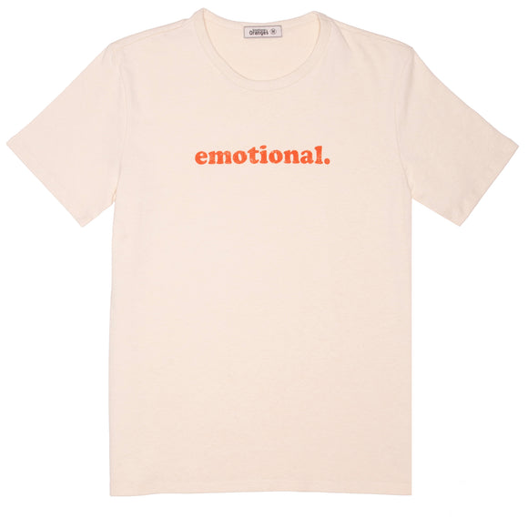 emotional. distressed cream tee 101