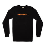 emotional. LS black tee