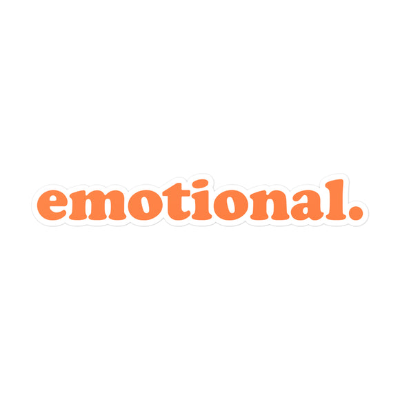 emotional. text logo sticker